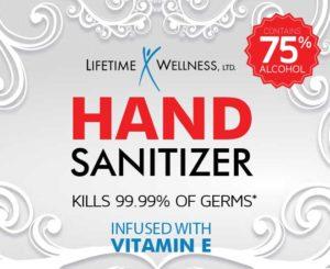 Hand Sanitizer, Lifetime Wellness Hand Sanitizer, Moisturizing Hand Sanitizer